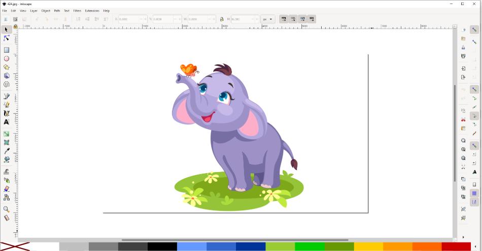 inkscape draw an elephant