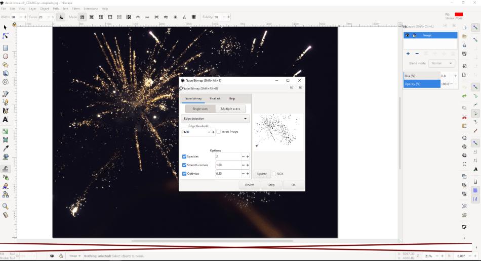 inkscape setting the pixels