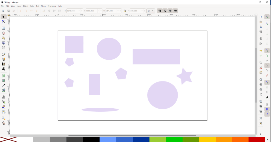 inkscape draw object