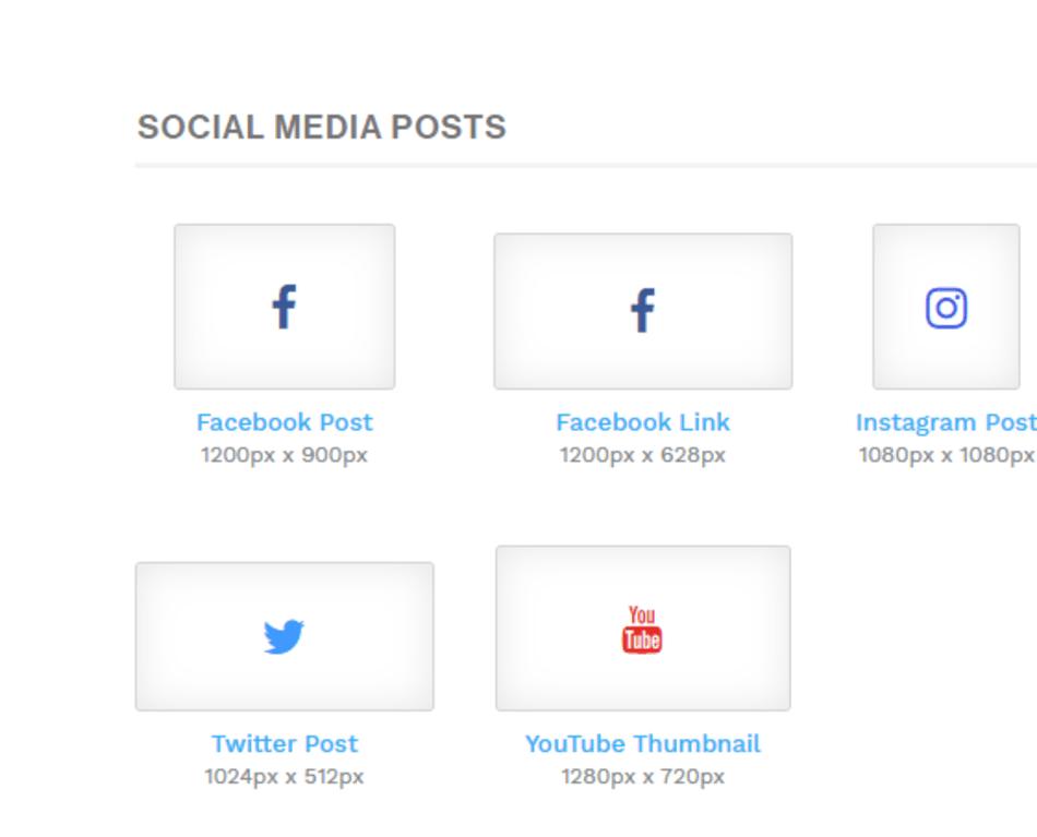 snappa social media posts artboard size