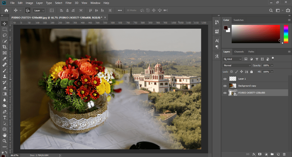 AdobePhotoshop image behin d bg layer