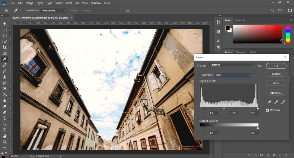 AdobePhotoshop levels