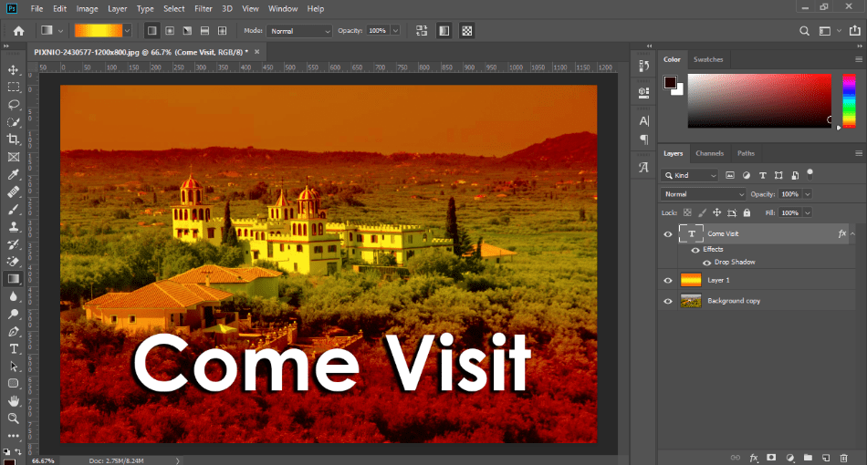 AdobePhotoshop text effects