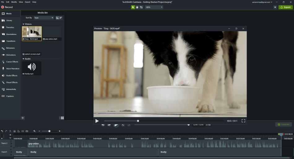 camtasia adding video