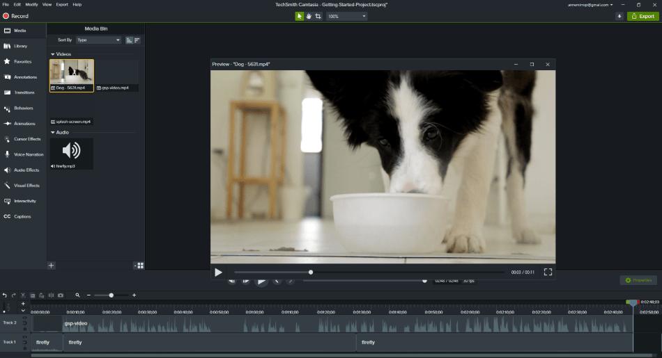 camtasia adding video