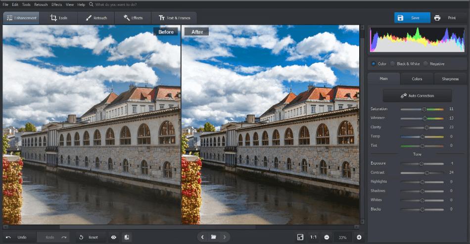 Photoworks interface