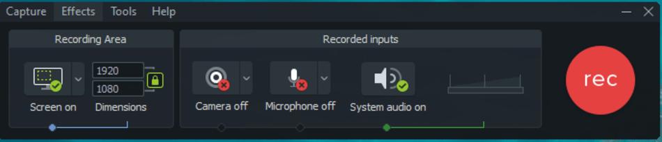 recording input of camatasia