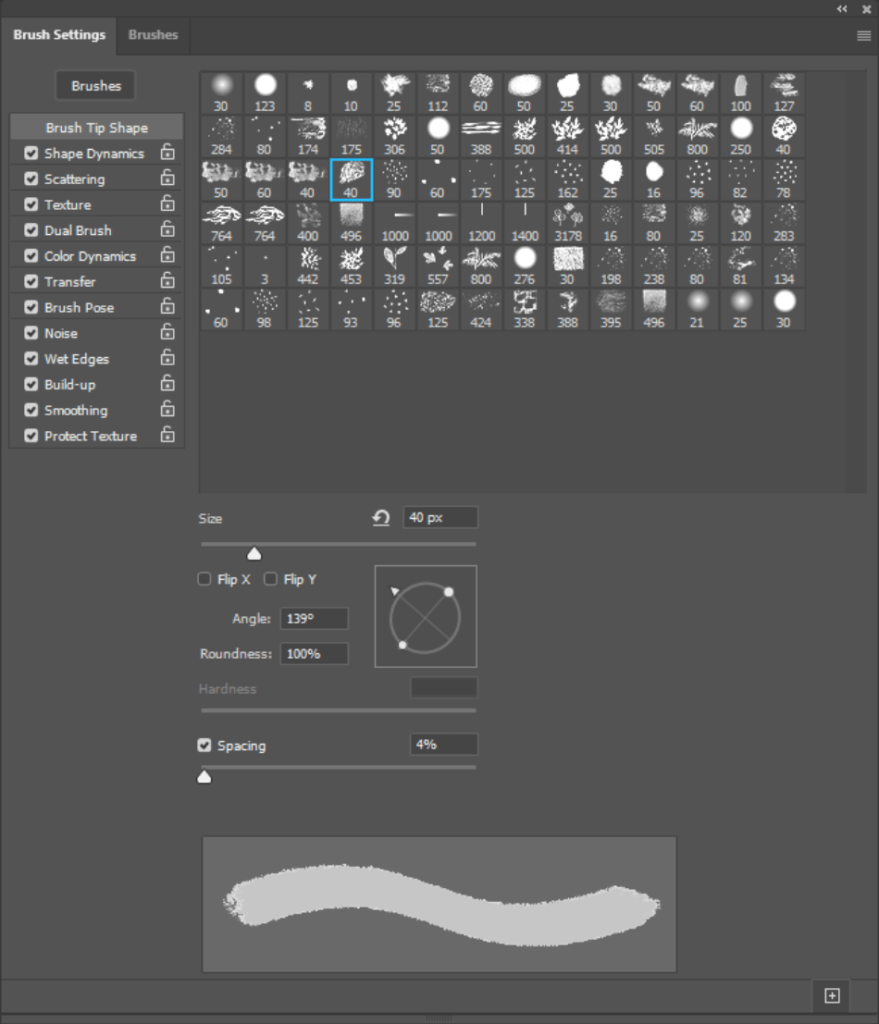 Brushes features