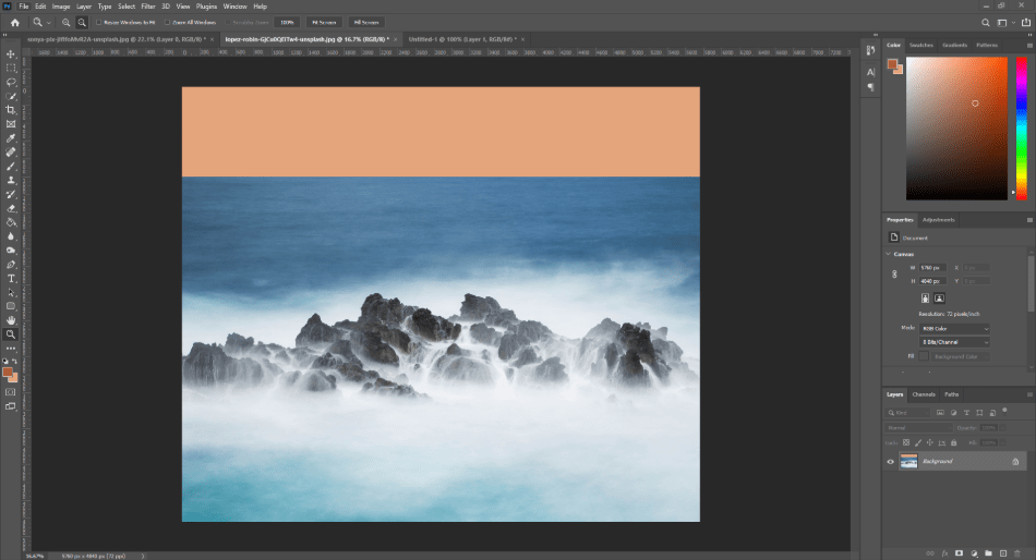 Filling In A Background Using Content Aware Fill 2