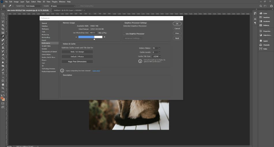 Photoshop use more RAM