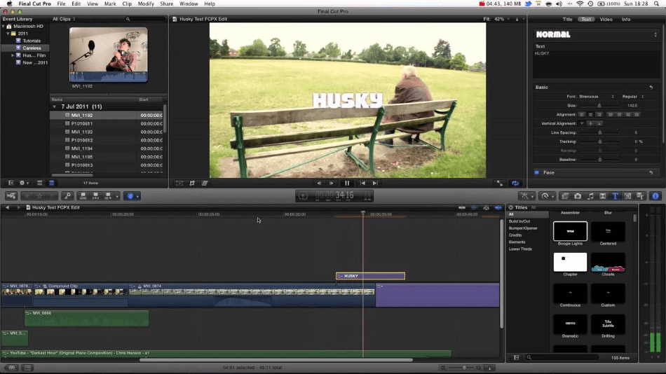 Final Cut Pro Ease of use