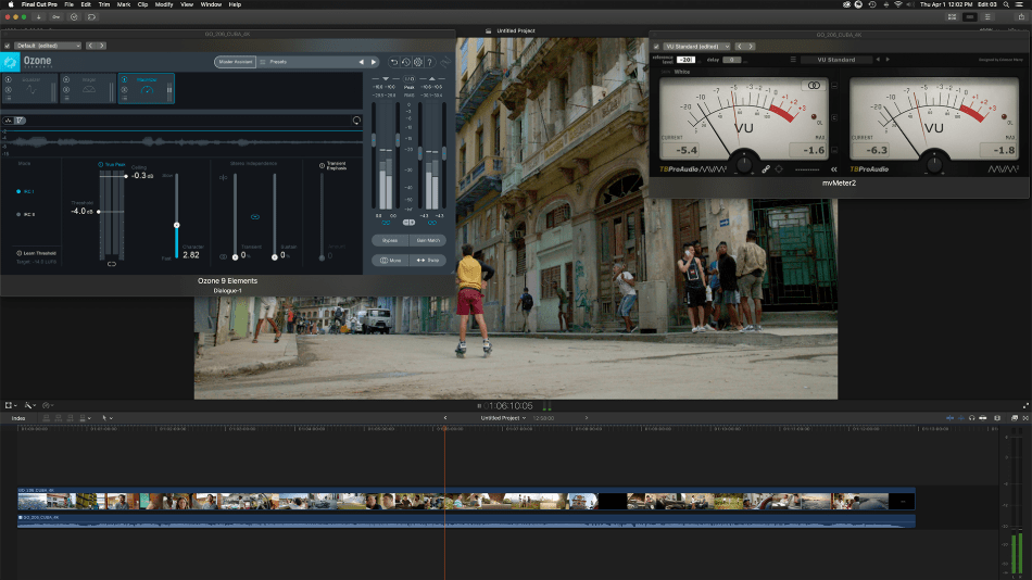 Final Cut Pro Editing of a image