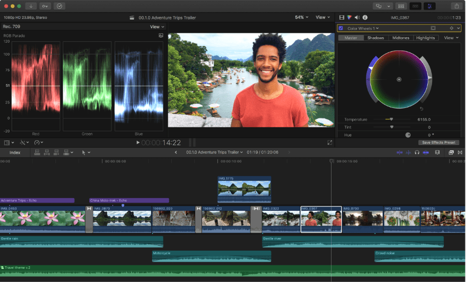 Final Cut Pro Features of a image