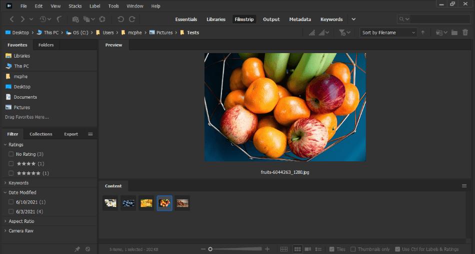 Adobe Bridge Gallery