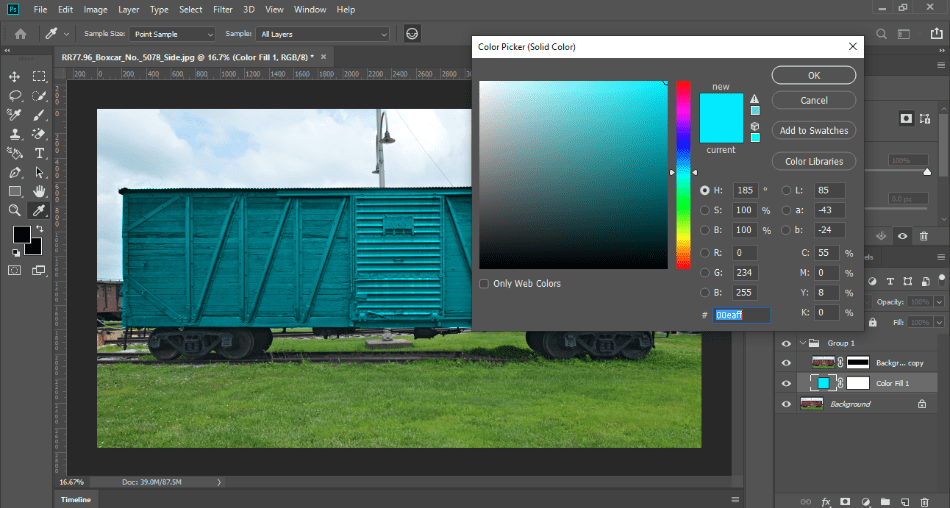 PhotoshopColorNewColor